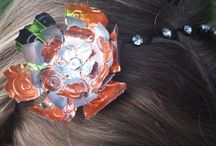Recycled Can Flower Headbands