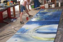 Art Artists and Studio spaces / I like to work big! / by Martha Smith Ⓥ
