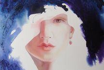 ~2º I Love Watercolor portraits, figurative, people~ / Portraits, figurative people / by Sonia Aguiar