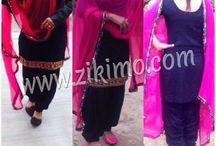 Punjabi Salwar Kameez / http://zikimo.com/clothing/suits/punjabi-salwar-kameez
