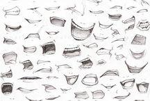 Andre skisser og tegninger / Parti ale corpului si particularitati