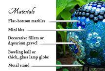 garden art balls