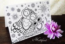 owl colouring pages and printable card (2)