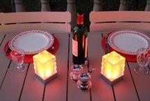 Centres de table lumineux modernes