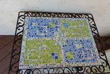 mosaique / table en mosaique