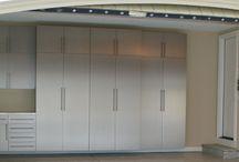 Garage Metal Cabinets & More / Custom Garages -http://encoregaragenewjersey.com/cabinets/ metal cabinets- stainless steel and wood grade-  #NJ #garage #customgarage #garagedesign #stainlessgarage