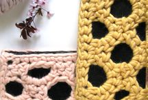 Crochet and Knit bags, totes, clutches