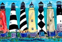 HOME: Coastal Living + Lighthouses / by Kathy Coley