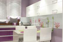 Aranżacja kuchni Wszechobecny fiolet / #aranżacja #kitchen #home #dream #style #dom #kuchnia #inspiration #inspiracja #a.bors #projekt #tychy #elegancja #wnętrza #styl #pomysły #ideas
