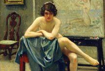 P.G. Fischer / Paul Gustave Fischer, né le 22 juillet 1860 à Copenhague et mort le 1 mai 1934 à Gentofte, dans la région de l'Hovedstaden au Danemark, est un peintre danois.