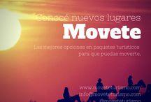 Movete Turismo / Información turística general. Oferta de paquetes turísticos para individuales, grupales y empresariales.