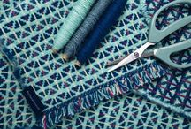 Heather Shields - Jazz & Toybox Scarves / A striking new collection of hand woven lambswool scarves by Scottish textile designer and weaver Heather Shields.