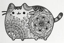 Cat zentagle