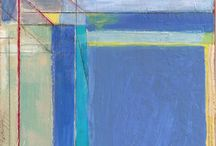 Abstract Expressionism:  Diebenkorn & Color Field Painting / Richard Diebenkorn was a well-known 20th C American painter. His early work is associated with Abstract expressionism & the Bay Area Figurative Movement of the 1950s and 1960s. His later work (best known as the Ocean Park paintings) were instrumental to his achievement of worldwide acclaim. Please see my other board on 20th Century Figurative painting for his later works.