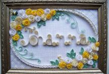 Quilling - Letters / by Lisa Eckland