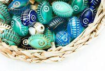 Evil Eye Czech Glass Beads