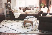 Moroccan diamond shaggy rug