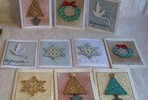 Handmade Holiday cards / I don't like to duplicate designs year to year, so what better place!