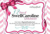 12 Days of SwellCaroline Giveaway!! / We're giving away Swell Caroline favorites everyday between December 10th and December 21st 2013. ONE winner a day will be selected for each gift and ONE lucky winner will be selected to receive ALL 12 gifts! Enter DAILY to increase your chances to WIN WIN WIN! #REPIN #12DaysOfSwell / by Swell Caroline Jewelry + Monograms