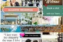#Algarve #Wedding #Show #Dublin 27th -28th Jan 2018 / free information on Algarve Weddings email us at weddingplanneralgarve@gmail.com