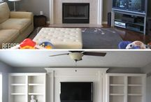 Fireplace / Inspiring fireplaces and built-in cabinets.