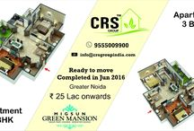 Migsun Green Mansion Pari Chowk Greater Noida / crsgroupindia: Apartment 2BHK and 3BHK, Ready to move in complete in june2016 Greater Noida, Rs 25Lacs Onwords.