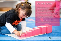 """Montessori Materials  / Montessori materials are beautiful, ingenious, invite activity and discovery, and """"grow"""" with the child through their Montessori journey."""