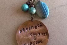 Inspirational Jewelry | Alexandria's Authentically Made Jewelry / Scripture Jewelry,  Words of Encouragement, Handmade Jewelry,  Gifts for Women, Handmade Bracelets, Handmade Necklaces, Metal Stamped Jewelry