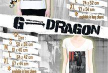 T-Shirt G-Dragon / Kumpulan T-Shirt dengan berbagai macam gambar G-Dragon