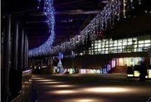luces led navideña cortina