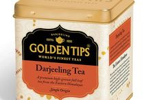 Golden Tips Tin Can / A collection of the finest hand-picked long leaf Black, Green, Oolong, White & Flavored teas from the different tea growing regions of Indian blended with superior ingredients, herbs & flavours, foil sealed in an attractive tin caddy.