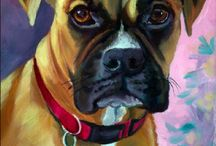 Boxer Dog Art / My art of the wonderful Boxer dog.
