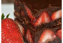 Chocolate strawberry brownies