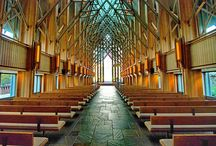 SkyRose Chapel,  E. Fay Jones and Maurice Jennings 1997