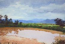 Monsoon Art / Monsoon Magic - Soak Yourself in the blues and greys of monsoon!