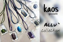 gioielli in alluminio / Bijoux realizzati in alluminio con perle,pietre