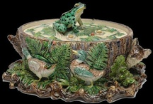 Creatures of Woods and Wetlands in Majolica / This board explores an aspect of natural history that intrigued majolica fans and designers: life abounding in ponds and streams. All of natural history was an important and popular topic in the Victorian period, and it appeared often in decorative and fine art. Most objects here are by English, French and German potters.We also have a section devoted to Palissy Ware, highly realistic, sometimes grotesque objects, most frequently made by French and Portuguese factories.