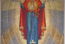 Mosaics at Ukrainian Catholic Cathedral Philadelphia / The mosaics at the Ukrainian Catholic Cathedral of the Immaculate Conception, were written through the hand of Ukrainian iconographer Christina Dochwat.