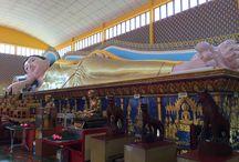 Georgetown (Penang-Malásia) / - Khoo Kongsi - maior clã chines de Georgetown - Dharmikarama Burmese Temple - Templo Budista Thai