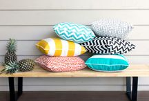 Outdoor Cushions / All Tuft and Buttons' cushions are locally made. You can choose from an extensive range of contemporary outdoor fabric designs.