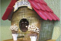 bird house / wooden bird houses