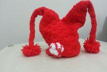 Kırmızı Kukuleta örgü Red hat knitting / Kırmızı kukuleta şapka nasıl örülür :)