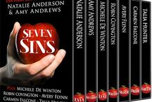 Seven Sins / Princess Sin (Part of the Seven Sins Box Set)  There's trouble on the horizon when Cynthia Aston, who the tabloids have nicknamed Princess Cyn for her slacker party girl ways, stows away on a yacht that belongs to workaholic billionaire Hunter McKenney, her older brother's sexy best friend.  / by Avery Flynn