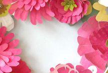 Reena paper flowers, bags
