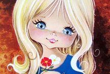 Девочки большеглазые Куклы