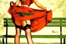 vintage girls art