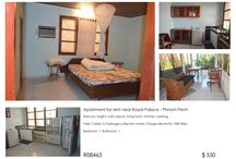 Apartment for rent near Royal Palace - Phnom Penh / Balcony, bright, calm place, living room, kitchen, parking