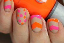 Orange/fushia