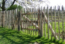 kastanje houten hek