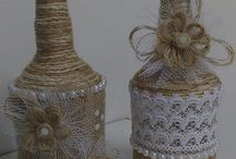 garrafas decoradas motivo natalnos com barbant